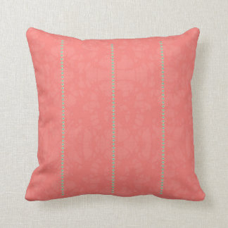 Boho Peach Paisley Designer Throw Cushion