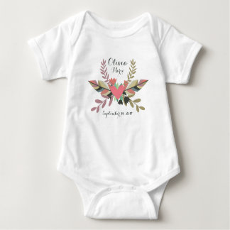 Boho Personalized Newborn Announcement | Bodysuit