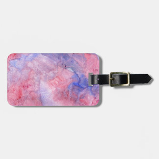Boho Pink and Purple Watercolor Luggage Tag