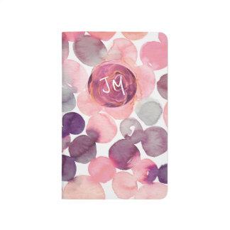 Boho Pink Purple Watercolor Circles Journal