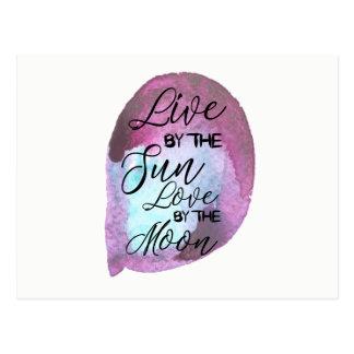 Boho Postcard- Live By The Sun Love By The Moon Postcard