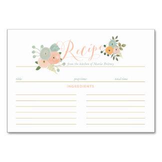 Boho Recipe Bridal Shower Cards