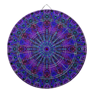 Boho-Romantic blue-colored mandala ornament Dartboard