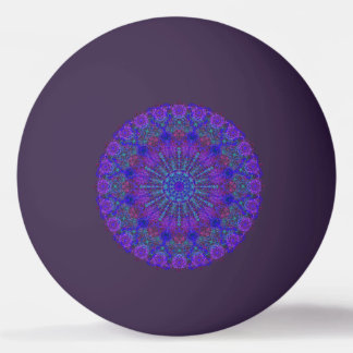 Boho-Romantic blue-colored mandala ornament Ping Pong Ball
