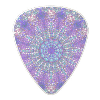 Boho-Romantic blue-colored mandala ornament Polycarbonate Guitar Pick