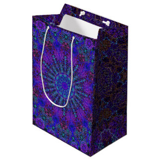 Boho-romantic colored mandala ornament arabesque medium gift bag