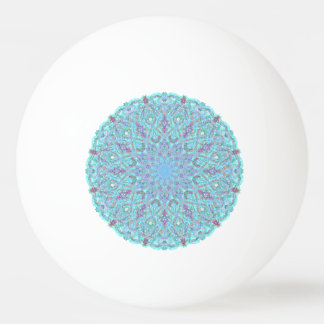 Boho-romantic colored mandala ornament arabesque ping pong ball