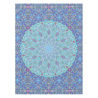 Boho-romantic colored mandala ornament arabesque tablecloth