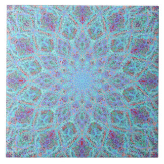 Boho-romantic colored mandala ornament arabesque tile