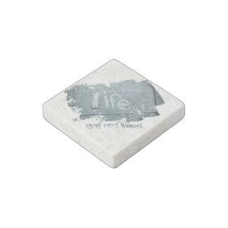 Boho Rustic Blue Inspirational Life Stone Magnets