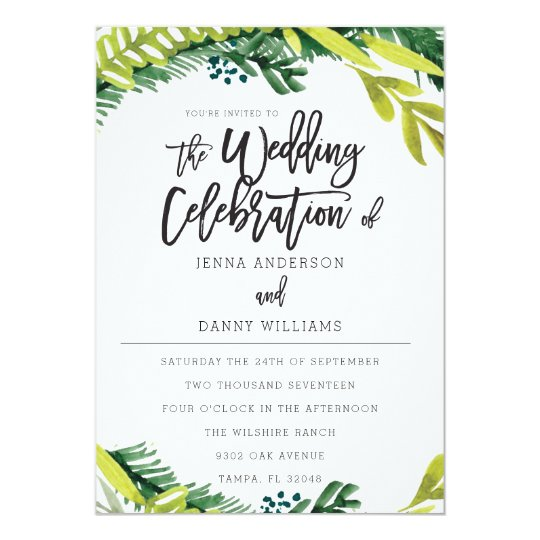 Boho Rustic Floral Wedding Invitation