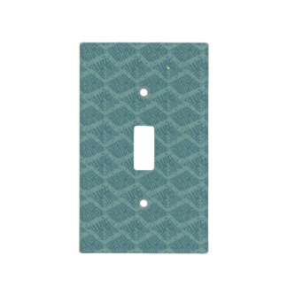 Boho Rustic Turquoise Geometric Light Switch Cover