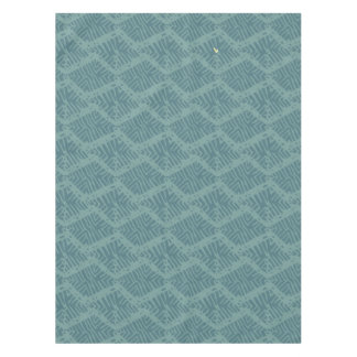 Boho Rustic Turquoise Geometric Tablecloth