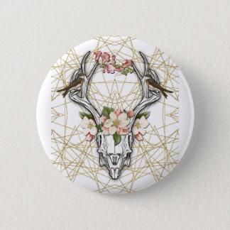 Boho Skull 2 Inch Round Button