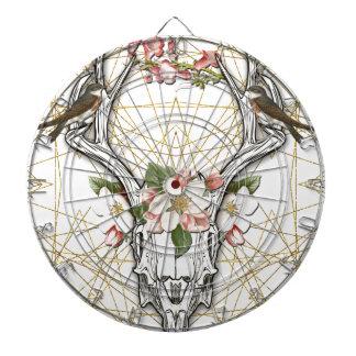 Boho Skull Dartboard