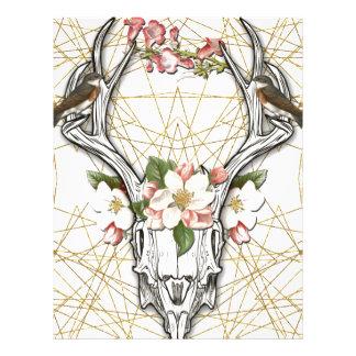 Boho Skull Letterhead
