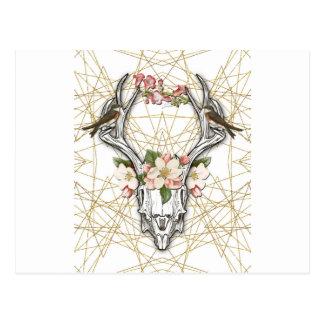 Boho Skull Postcard
