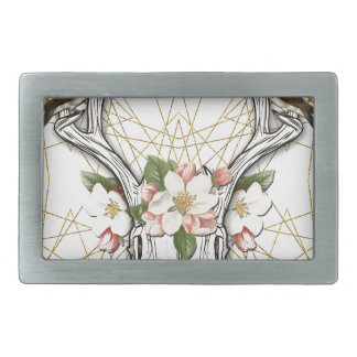 Boho Skull Rectangular Belt Buckle