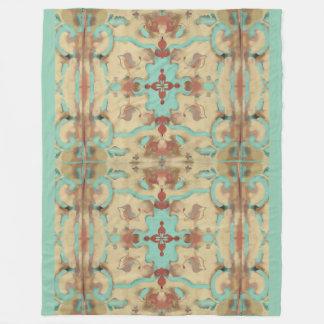 Boho Southwestern Vintage Deco Mandala Pastels Fleece Blanket