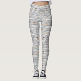 Boho stripes design earth tones leggings