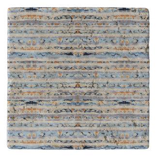 Boho stripes design earth tones trivet