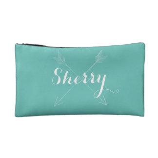 Boho Style Arrows Modern Artistic Bohemian Cosmetic Bag
