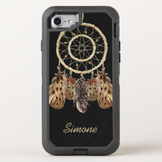 Boho Style Dream Catcher with Monogram OtterBox Defender iPhone 8/7 Case