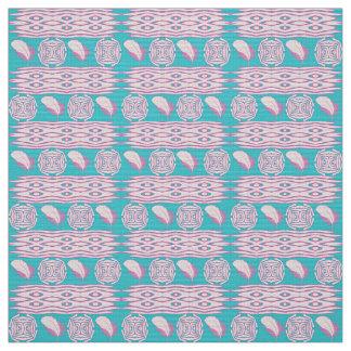 boho style ethic feathers pattern fabric