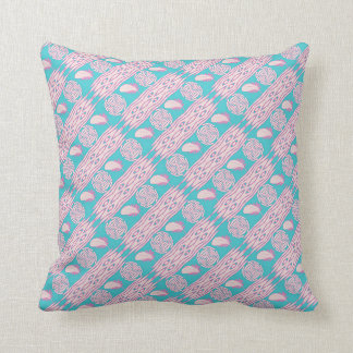 boho style ethic feathers pattern throw pillow