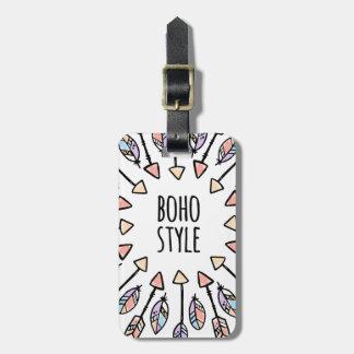 Boho Styled Two Sided Luggage Tag
