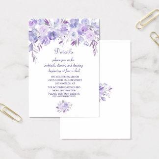 Boho Succulent Cactus Wreath Wedding Details Business Card