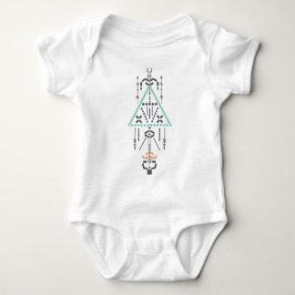Boho Totem, Ethnic Symbol, Hippie, Aztec, Tribal Baby Bodysuit