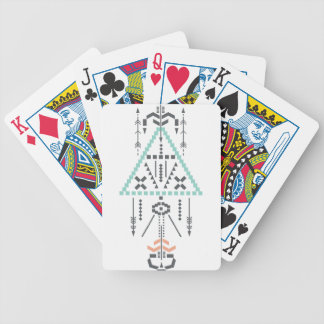 Boho Totem, Ethnic Symbol, Hippie, Aztec, Tribal Bicycle Playing Cards