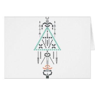 Boho Totem, Ethnic Symbol, Hippie, Aztec, Tribal Card
