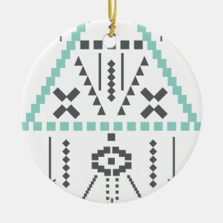 Boho Totem, Ethnic Symbol, Hippie, Aztec, Tribal Ceramic Ornament
