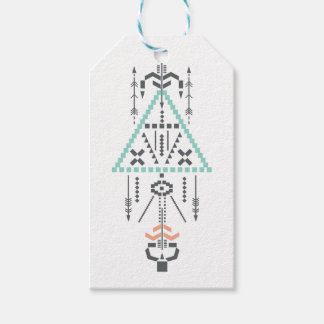 Boho Totem, Ethnic Symbol, Hippie, Aztec, Tribal Gift Tags