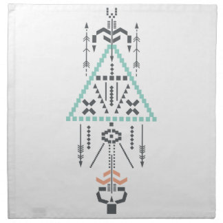Boho Totem, Ethnic Symbol, Hippie, Aztec, Tribal Napkin