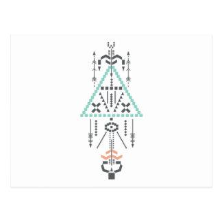 Boho Totem, Ethnic Symbol, Hippie, Aztec, Tribal Postcard