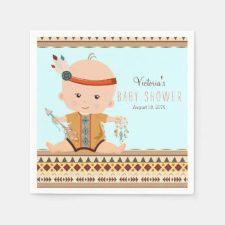 Boho Tribal Baby Shower Paper Napkin
