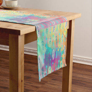 Boho Tribal Chic Feathers  & Arrows Table Runner