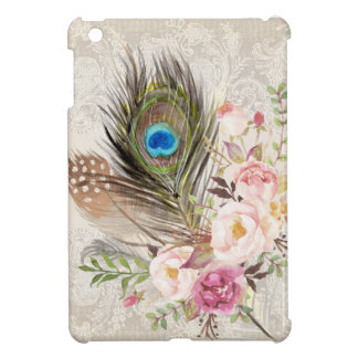 Boho Tribal Chic Peacock Feather iPad Mini Case