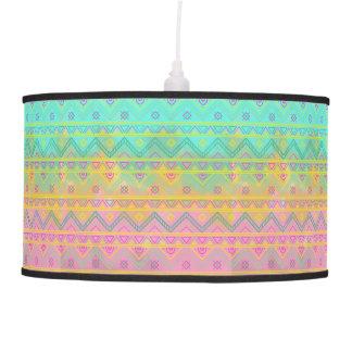 Boho Tribal Chic Watercolor Geometric Stripe Lamp