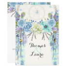Boho Tribal Dream Catcher Watercolor Turquoise Card