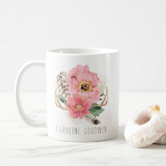 Boho Tribal Feathers Coffee Mug