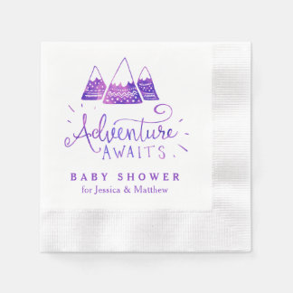 Boho Tribal Girl Adventure Baby Shower Napkins Paper Napkins