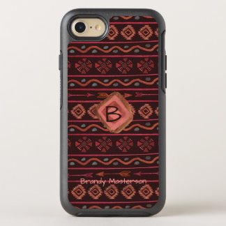 Boho Tribal Pattern with Personalization OtterBox Symmetry iPhone 8/7 Case