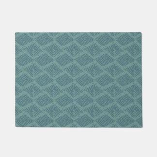 Boho Turquoise Geometric Doormat