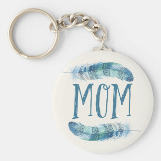 Boho Watercolor Feathers | Mother's Day Keychain