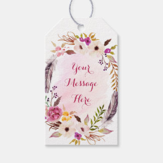 Boho Watercolor Floral Baby Shower Gift Tags