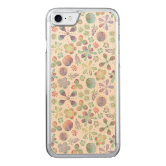 Boho Watercolor Floral Carved iPhone 7 Case
